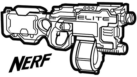 printable nerf images epic gun coloring pages 41 in free colouring with http