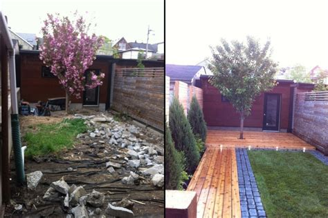 backyard makeovers before and after under the sun ecological landscaping homestars