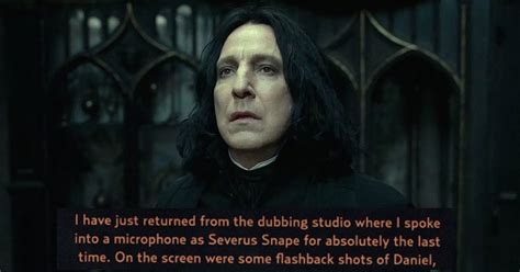 Thank You Note To Jk Alan Rickman Wrote An Eloquent Thank You Note To J K Rowling For His Part As Severus Snape