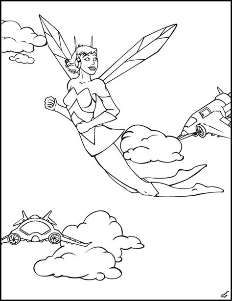 avengers wasp coloring pages avengers wasp free colouring pages