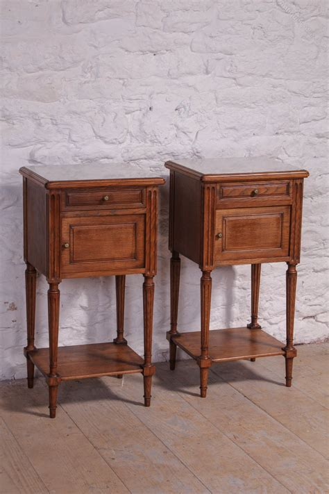 marble top bedside table attractive pair of oak bedside tables with marble