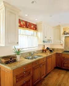 Kitchen Cabinet Uppers White Cabinets With Wood Lowers Home