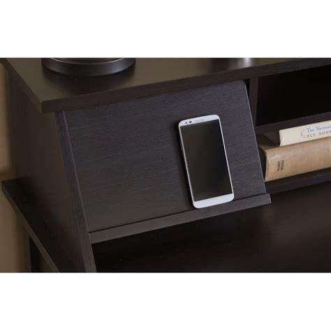 desk l with organizer bush broadview computer desk with organizer in espresso
