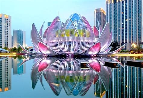 lotus in china new building in china is shaped like a lotus flower