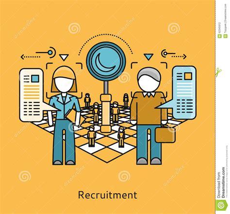 icon design concept recruitment icon flat design concept stock vector image