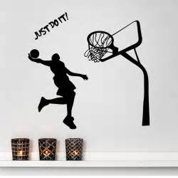 kid s room wall decal just do it michael dunk