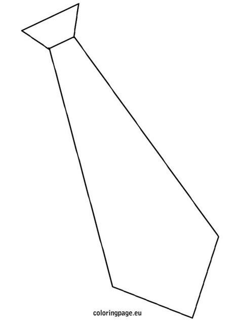 template tie coloring page craft ideas pinterest