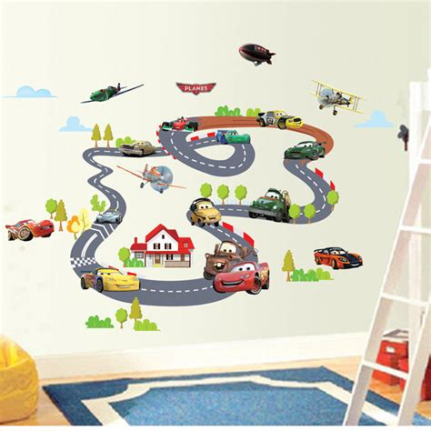 aliexpress buy sale highway track car wall stickers home decoration sticker