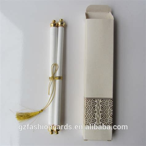 Wedding Invitation Card Roll by Beige Color Roll Wedding Invitation Card With Tassel Buy
