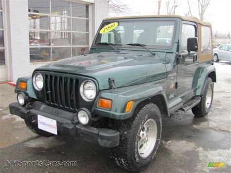 jeep dark green 1999 jeep wrangler sahara 4x4 in forest green pearlcoat