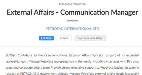 design engineer job vacancy selangor oil gas vacancies external affairs communication