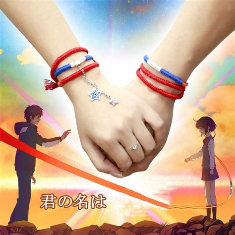 anime in your name ruler your name anime bracelet miyamizu mitsuha