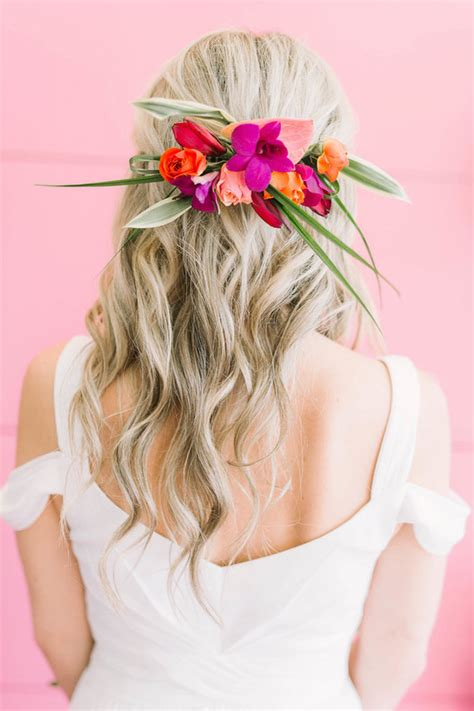 tropical hairstyle wedding ideas 100 layer cake