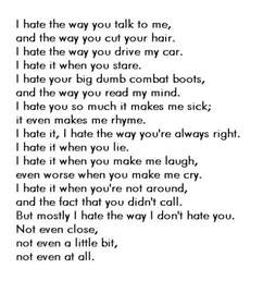 Things I Like And Dislike Essay by 10 Things I About You Quote Image 764109 On Favim