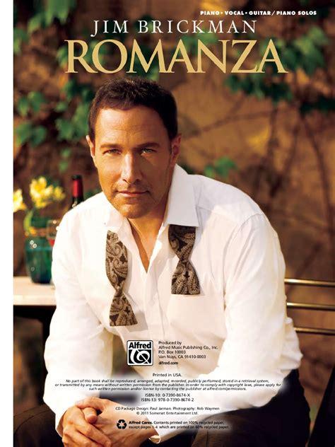 my song jim brickman romanza by jim brickman j w pepper sheet