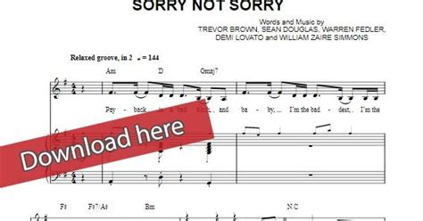 demi lovato sorry not sorry sheet music free score demi lovato sorry not sorry piano sheet