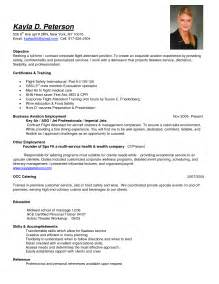flight attendant resume templates kayla d peterson