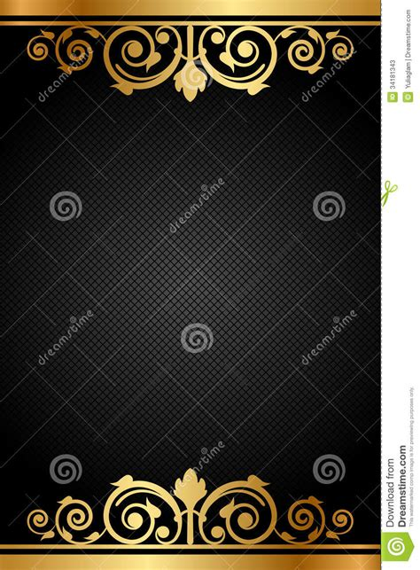 Gamis Black Gold black and gold luxury frame stock vector image 34181343