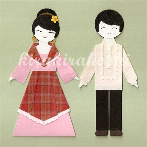 Wedding Animation Philippines by Traditional Costume Clipart Barong Tagalog Pencil And In