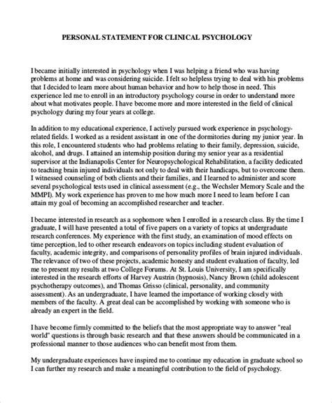 10 Graduate School Personal Statement Exles Free Premium Templates Personal Statement Template Graduate School