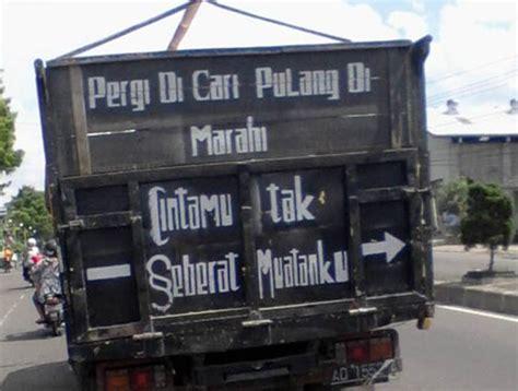 15 gambar tulisan di bak truk ini bikin kamu senyum senyum dan ngakak sendiri lihatnya paling seru