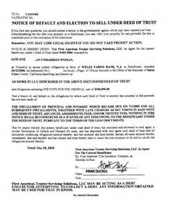 notice of default letter template notice of default