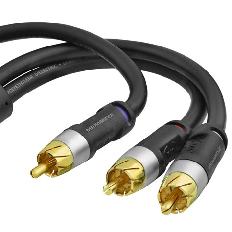 Connector Rca 2 To Pvc shop new ultra series rca y adapter 1 to 2 black 15 mediabridge products