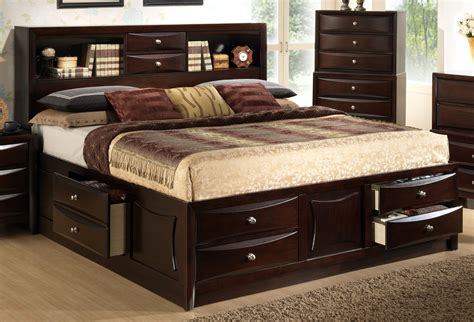 Bed With Storage And Headboard by Bedroom Organize Your Room With Headboard With