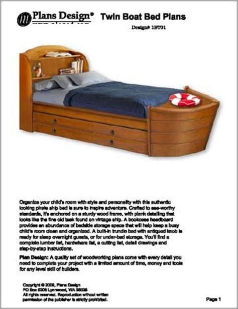 boat bed twin children s twin boat bed with trundle bed project plans