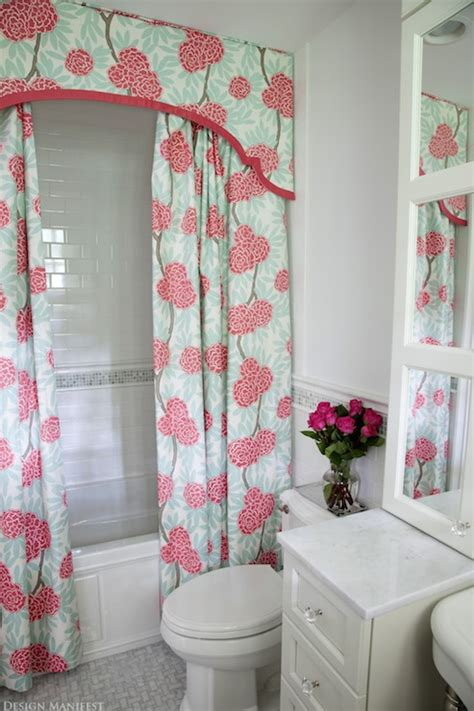 shower curtain valance bathroom design