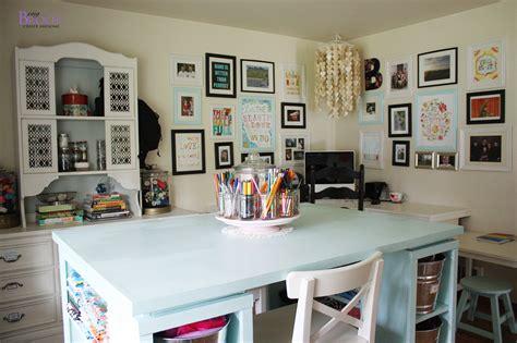 ana white modern craft table aqua diy projects