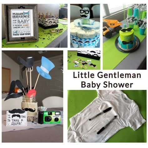 Gentleman Baby Shower by Onyx Blush Co Modern And More