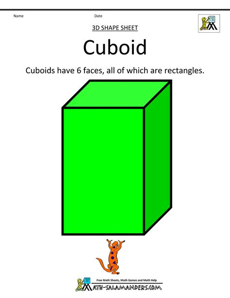 How To Make Cuboid With Chart Paper - 3 d shapes