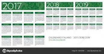 Calendario 2018 E 2019 Vetor De Calend 225 2017 2018 2019 Italiano Vetores De