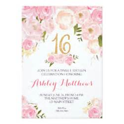 sweet sixteen invitations amp announcements zazzle