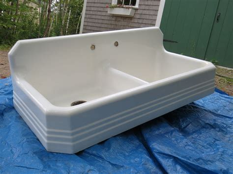 Farm Sink With Drainboard Antique Richmond 1939 Cast Iron Farm Farmhouse Kitchen