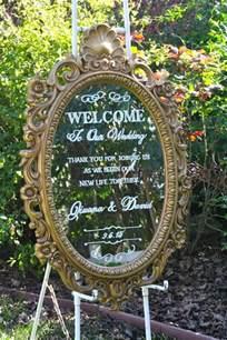 Affordable Wedding Programs 27 Vintage Mirror Wedding Sign Decoration Ideas Page 3