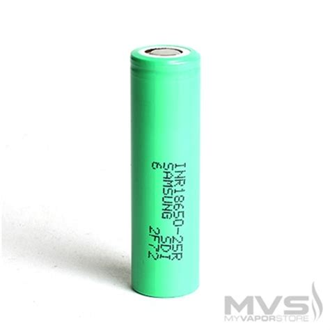 samsung inr18650 25r 2500mah battery flat top