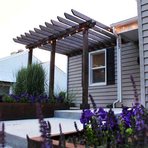 Deck To Patio Transition Entry Pergola Modern Exterior Salt Lake City By