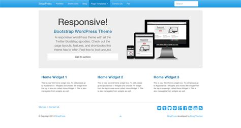 bootstrap themes free superhero bootstrap 3 wordpress theme strappress com