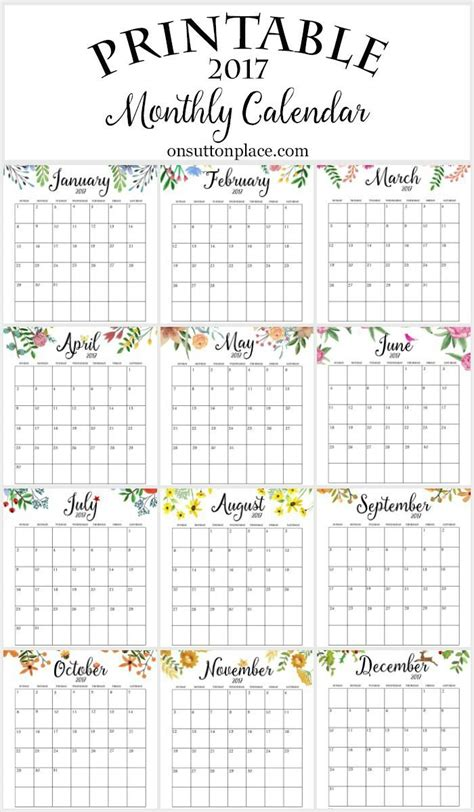 printable quarterly calendar 2017 free printable monthly calendar free printable