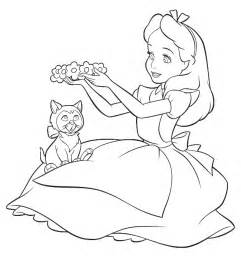 cartoon design alice wonderland coloring pages disney