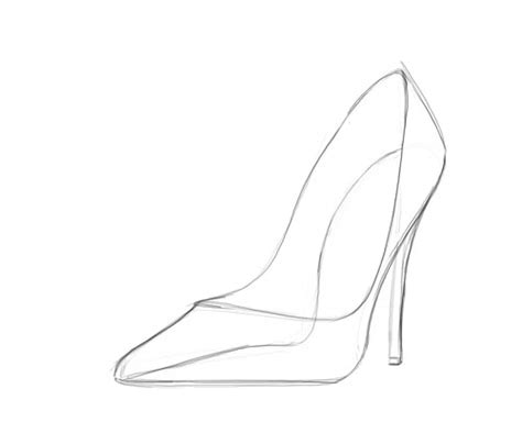 High Heel Shoes Outline by Image Gallery High Heel Drawing