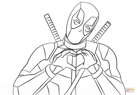 Deadpool Coloring Pages For deadpool coloring pages printable az coloring pages