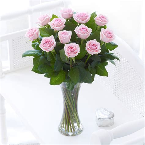 Pink Roses In A Vase by Pink Vase Gallagher Flowers