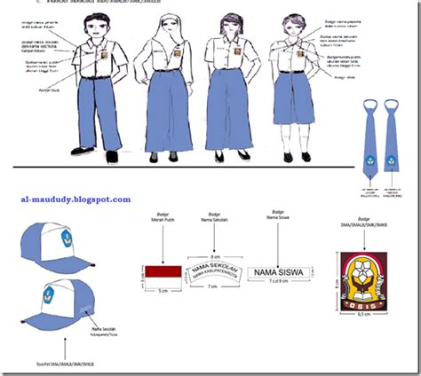 Celana Panjang Sd Merah No 3738 Tingkat 4 pakaian seragam nasional sma smalb smk smklb sesuai permendikbud no 45 tahun 2014 al maududy