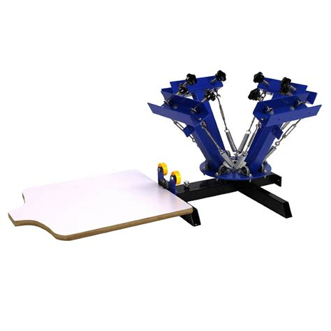 4 color screen printing press commercial bargains 4 color 1 station silk screen printing