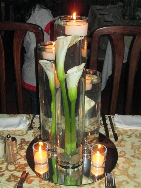 centros de mesa con velas para bodas centro de mesa con cartuchos y velas boda pinterest