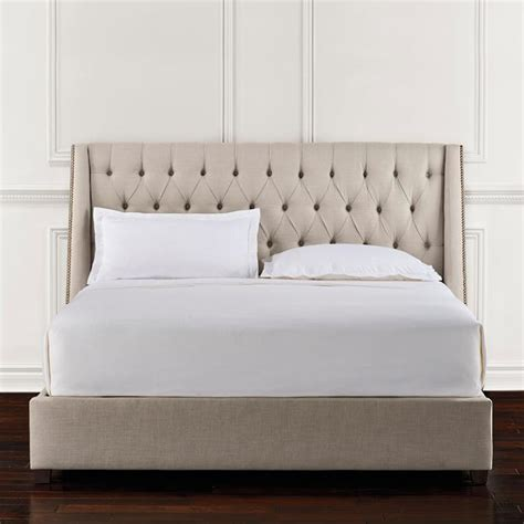 frontgate bed chatham tufted upholstered bed frontgate