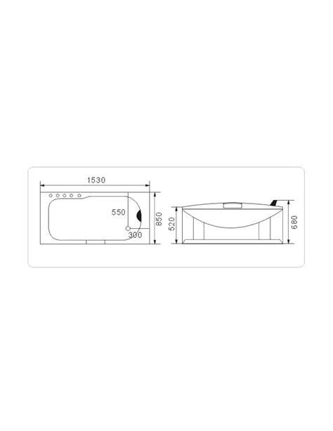 idromassaggio per vasca da bagno vasca idromassaggio misure 153x85 cm